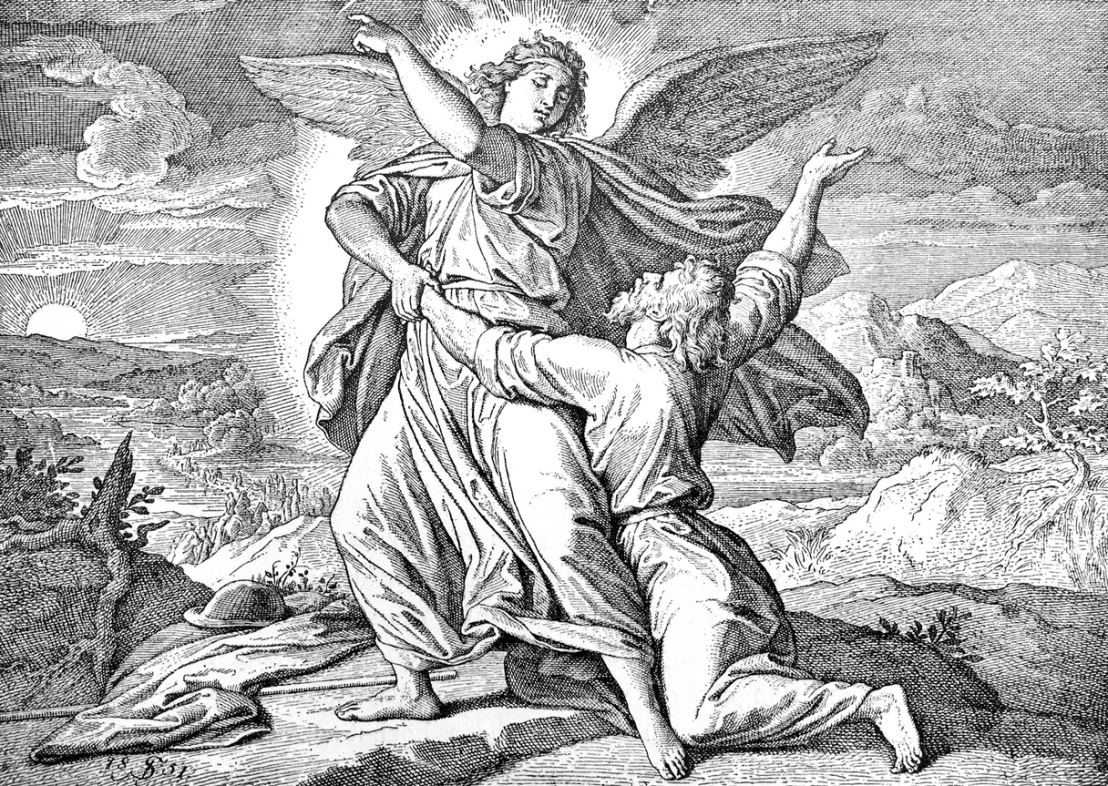 Bible: Jacob is fighting with the angel