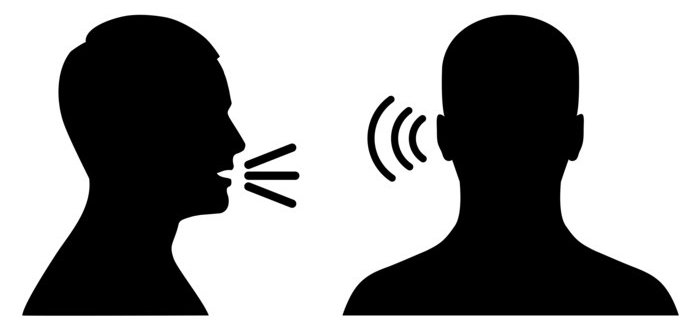 listen and speak icon, voice or sound symbol